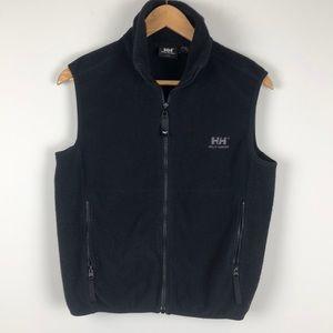 Helly Hansen Black Fleece Zip Up Vest - Size Small